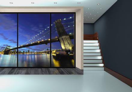 Brooklyn Bridge giant wall murals